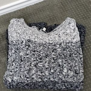 Talbot cable knit ombre sweater